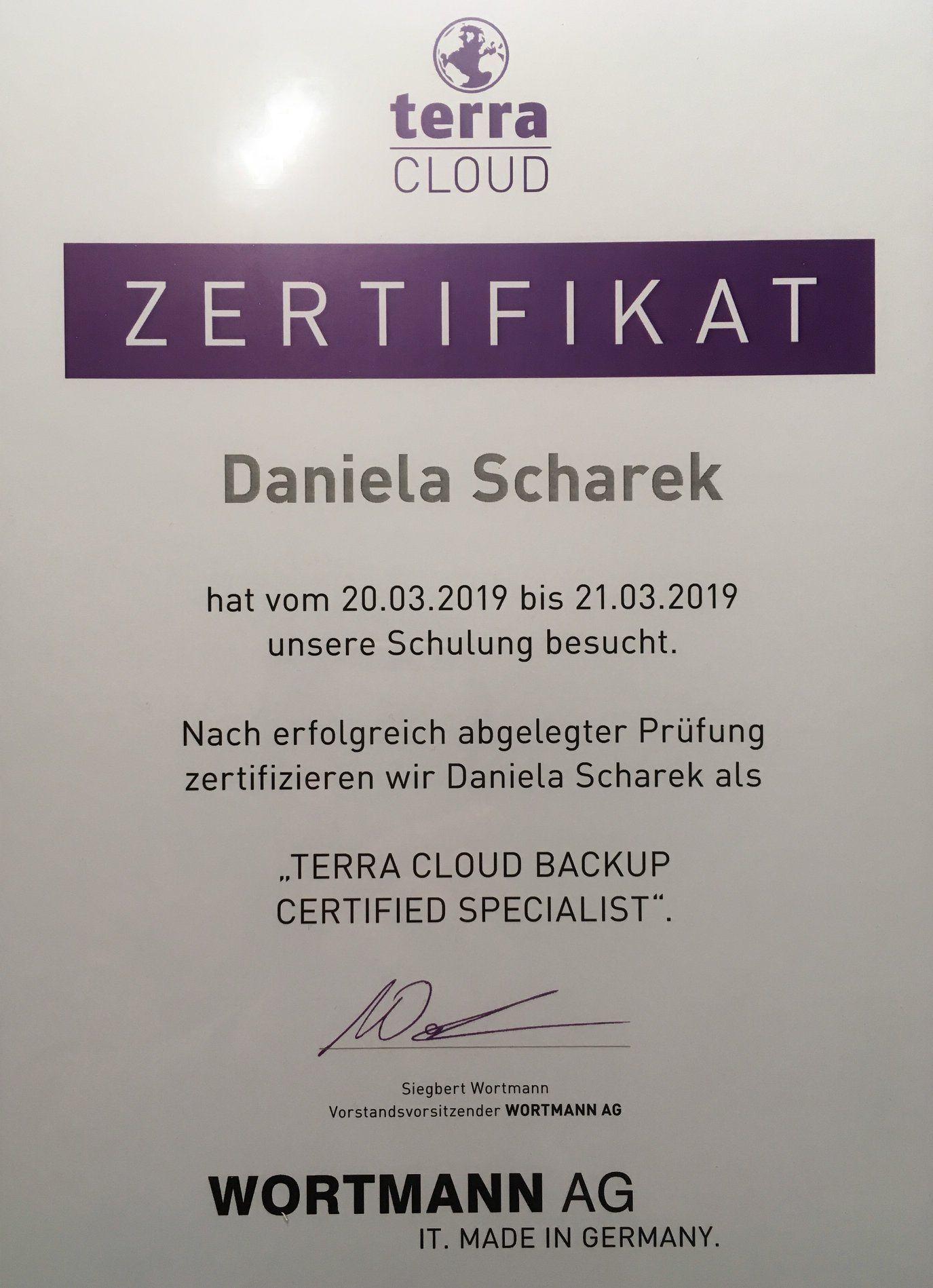 terra Cloud Backup Certified Specialist 1